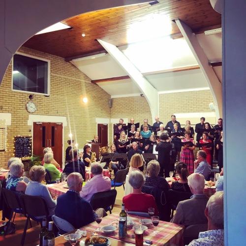 midsummer cabaret audience and choir